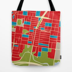 Vintage Style Map of Yarraville Tote Bag