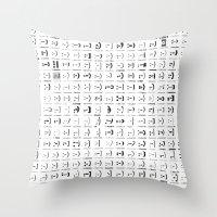 300 smileys  300 fonts Throw Pillow