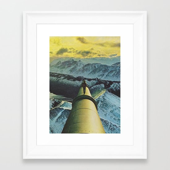 the farthest place Framed Art Print