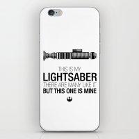 This is my Lightsaber (Luke Version) iPhone & iPod Skin