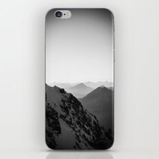 Mountain Side Black and White Photo Europe Nature iPhone & iPod Skin