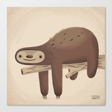 All in Good Time (Sloth) Canvas Print