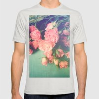 Garden Party Mens Fitted Tee Silver SMALL