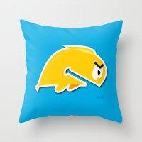 Angry Phish Throw Pillow