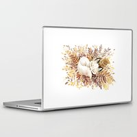 forest Laptop & iPad Skins featuring Slumber by Freeminds