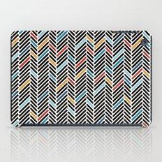 Herringbone Blue and Black #3 iPad Case