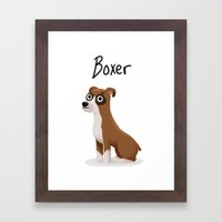 Boxer - Cute Dog Series Framed Art Print