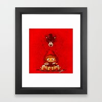 and the winner is... Framed Art Print