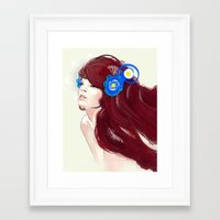 Blue flower. Framed Art Print