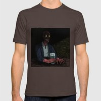 A stranger in the corner Mens Fitted Tee Brown SMALL