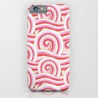 Red Auspicious Waves  iPhone 6 Slim Case