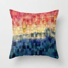 Blue Tide Mosaic Throw Pillow
