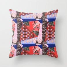 Girly_pattern_toxic_cute pattern Throw Pillow