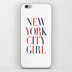 New York City Girl iPhone & iPod Skin