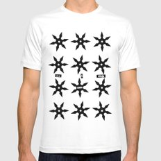 ninja Mens Fitted Tee White SMALL