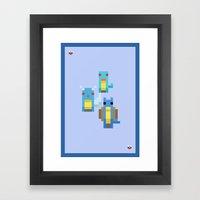 Blue Family Framed Art Print