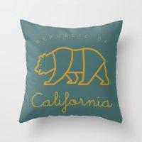 Republic of California Throw Pillow
