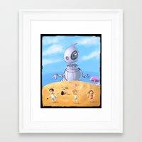 Giant robo dino Framed Art Print