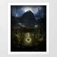 Valley Of Masks Art Print