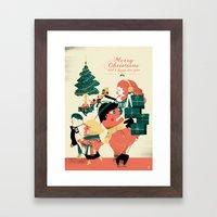 CHRISTMAS POSTCARD Framed Art Print