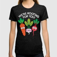 Motivegetable Speakers Womens Fitted Tee Tri-Black SMALL