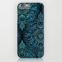 Black & Aqua Protea Dood… iPhone 6 Slim Case