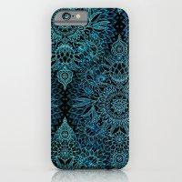 Black & Aqua Protea Dood… iPhone 6 Slim Case