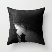 A Dark Winter Night Throw Pillow