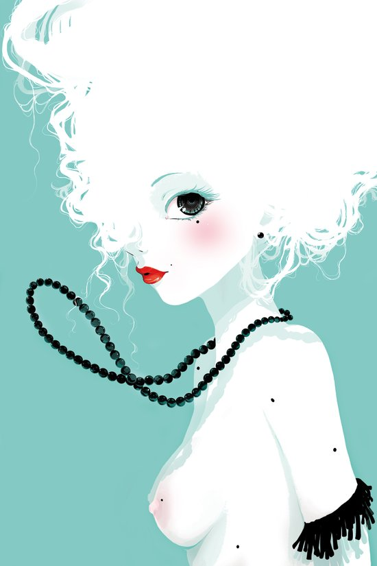 Black pearls Art Print