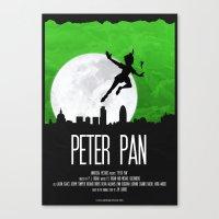 PETER PAN GREEN Canvas Print