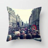 A London Parade  Throw Pillow
