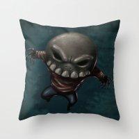Skeleton Krueger Throw Pillow