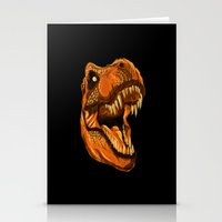 Geometric T-Rex Stationery Cards