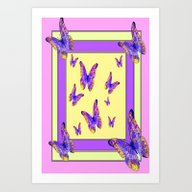 Art Print featuring Decorative Lilac-Purple … by SharlesArt