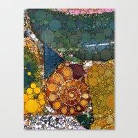 Granite Agate Quartz Sna… Canvas Print