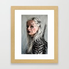 Alone but Free: Medieval Portrait of a Goth Girl Framed Art Print