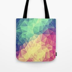 Abstract Polygon Multi Color Cubizm Painting (low poly) Tote Bag