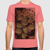 Mini Water Lilies and Water Bug Mens Fitted Tee Pomegranate SMALL