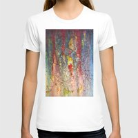 Color waterfall  Womens Fitted Tee White SMALL