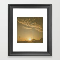 Clouds carried on the sunset Framed Art Print