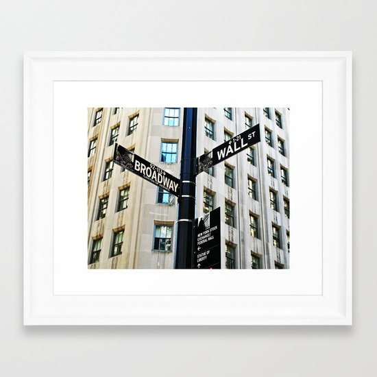 Broadway Meets Wall Street Framed Art Print