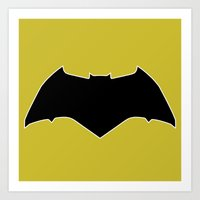 Dawn Of Justice : Bat Sy… Art Print