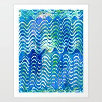 Rippling Waves Art Print