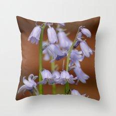 Spanish Bluebells Throw Pillow