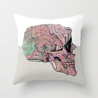 Life In Cycles Throw Pillow
