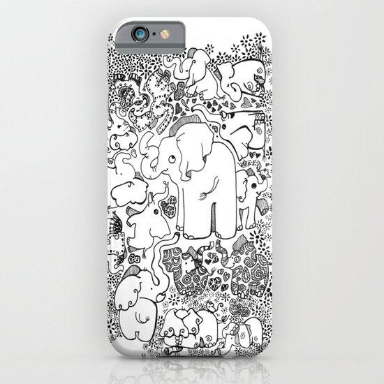 Little Elephants iPhone & iPod Case