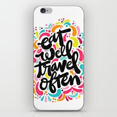 EAT & TRAVEL iPhone & iPod Skin
