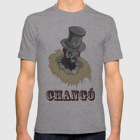 PAPA CHANGO Mens Fitted Tee Athletic Grey SMALL
