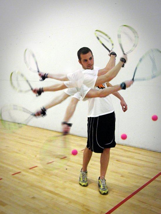 Photo Sequence-Racquetball  Canvas Print