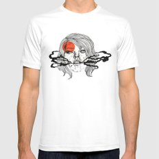 O-Face White SMALL Mens Fitted Tee